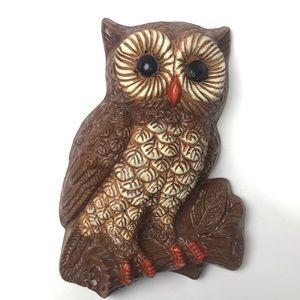 Vintage Big Eyed Owl Wall Decor Molded Foam